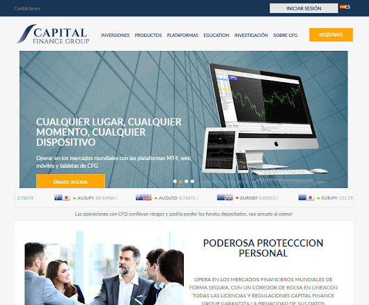 Capital Finance Group / CFGTrade opinión • Brokers de forex confiables