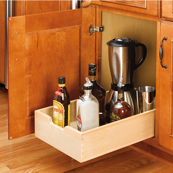 Kitchen Base Cabinet Wood Pull-Out Drawers w/ 3/4 ...