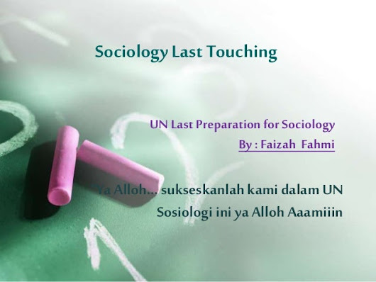 """Sociology Last Touching"""