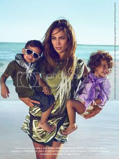 Jennifer Lopez and Her Twins in Gucci's Ad Campaign