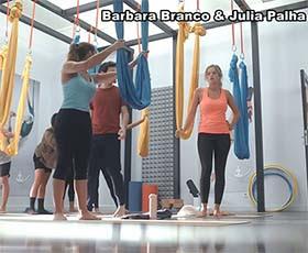 Barbara Branco e Julia Palha sensuais na novela Na Corda Bamba
