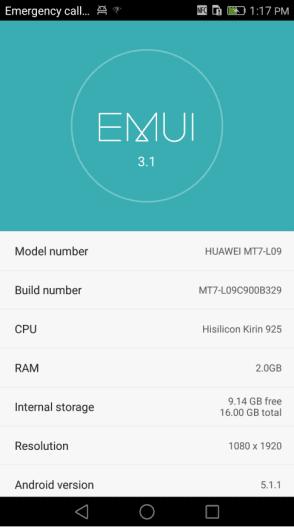 Huawei Mate 7 B329