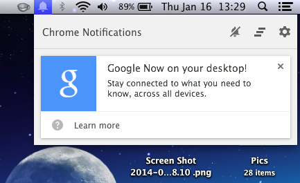 Google Now Cards Hit The Desktop For Mac, Windows and Chrome OS Users