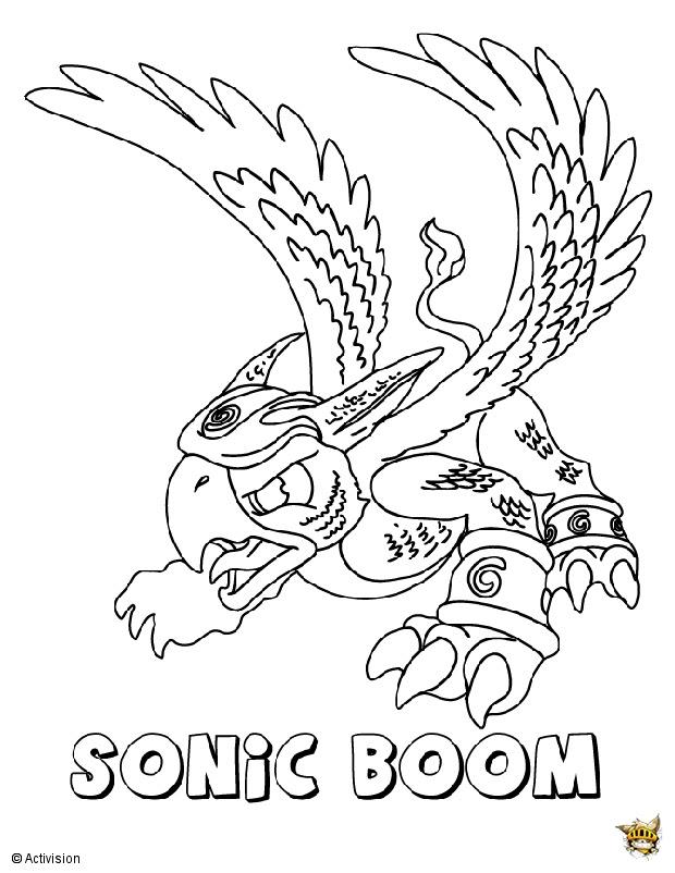 Sonic Boom Est Un Coloriage De Skylanders