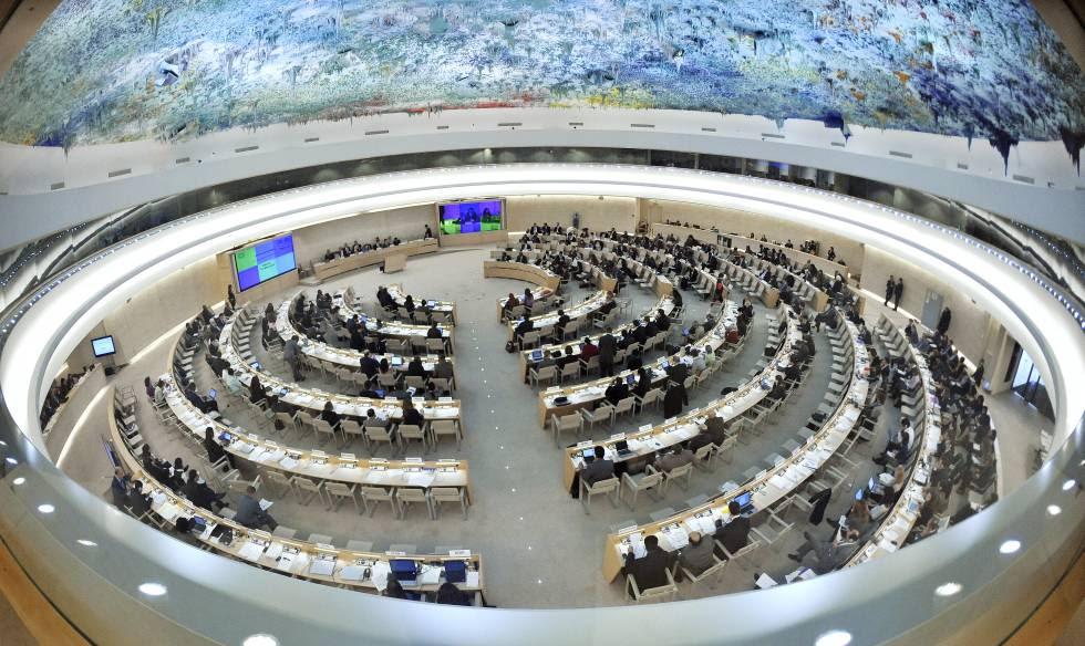 Reunión del Consejo de Derechos Humanos de la ONU en Ginebra (Suiza).