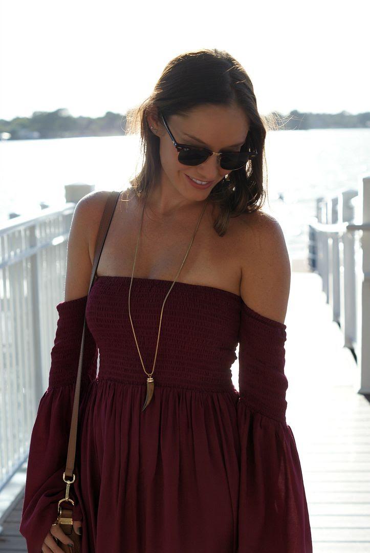 Boho off the shoulder dress