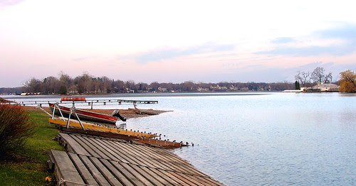 Deephaven Beach. Ice is almost out.