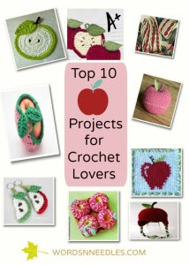apple themed fall and back to school projects for crochet DIY simple easy projects
