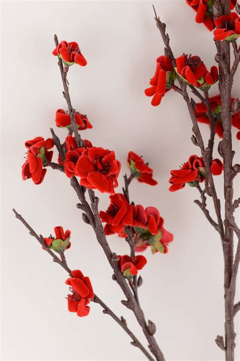 Plum Blossom Spray Red 41in