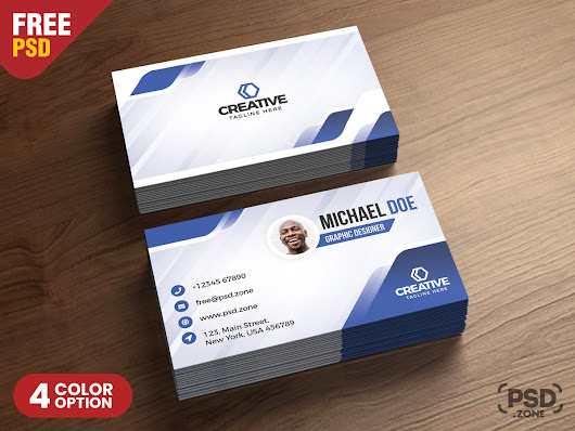 Modern Business Cards Design PSD - PSD Zone