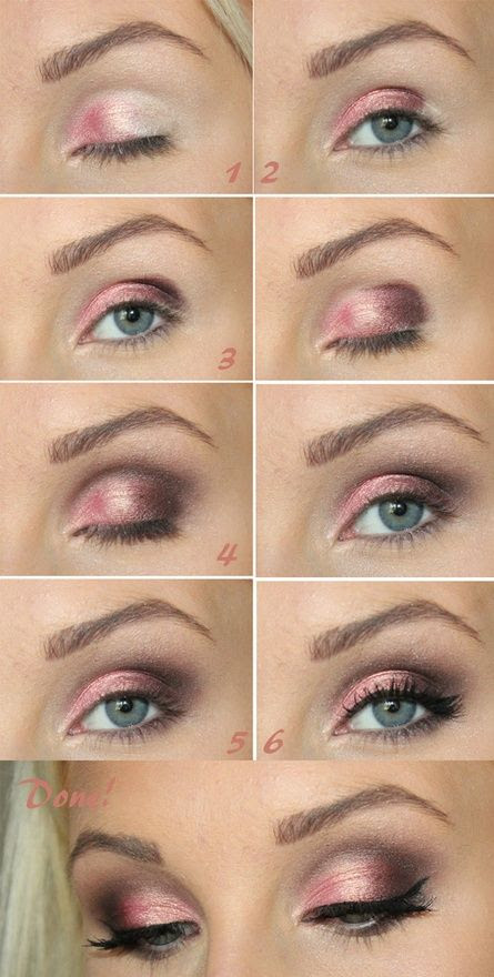 Another example of the pink smokey eye. I think her pink is a little too bright though.