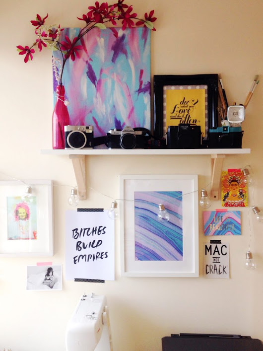 How to add art to your home - Yellow Feather