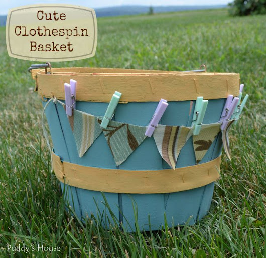 Cute Clothespin Basket – Puddy's House