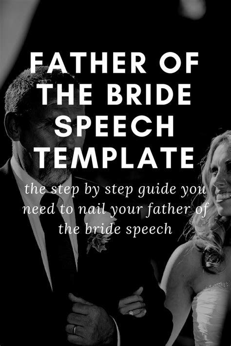 father   bride speech template wedding speeches