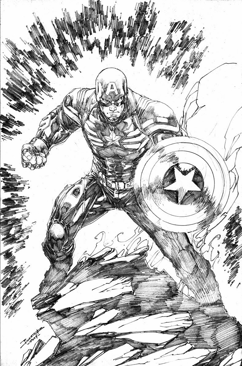 Captain America by Brett Booth