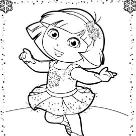 Dora Patinando Para Pintar Juegos Dora