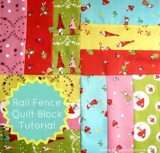 Rail Fence Quilt Block Tutorial -