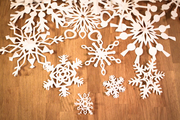 make your snowflakes!