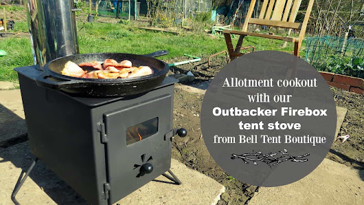 Allotment cookout with our Outbacker Firebox tent stove - Yorkshire Tots