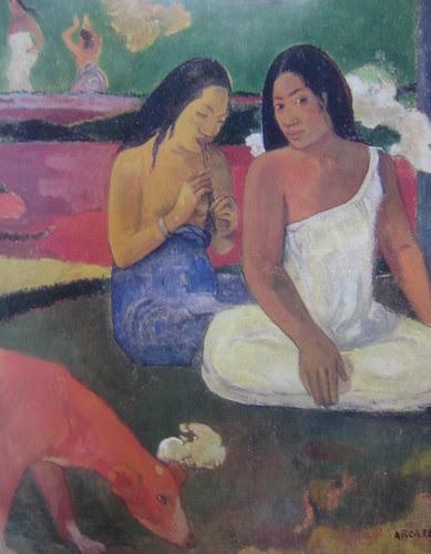 Arearea (Joyousness) (detail), Paul Gauguin, 1892, Musée d'Orsay, De Young Museum, San Francisco