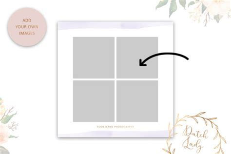 PSD Wedding Photo Card Template Graphic by daphnepopuliers