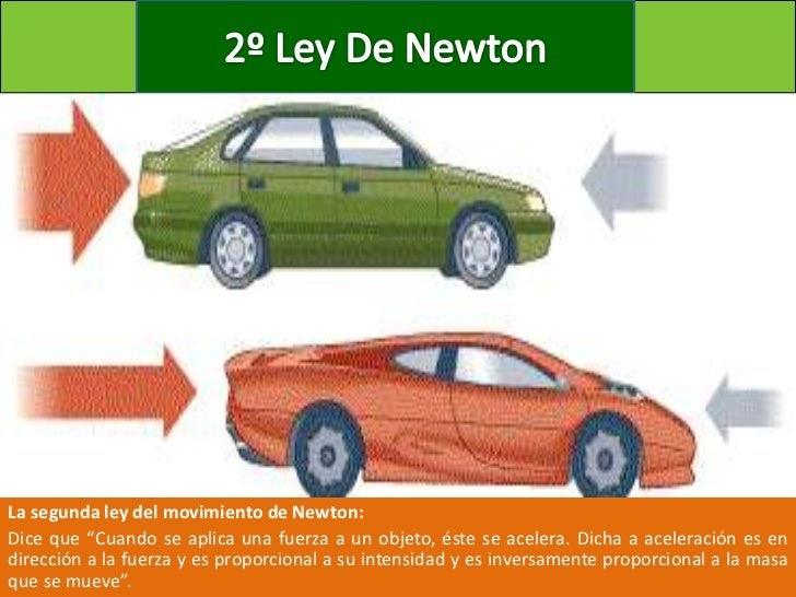 Segunda Ley De Newton Asociado A Mantenimiento Automotriz