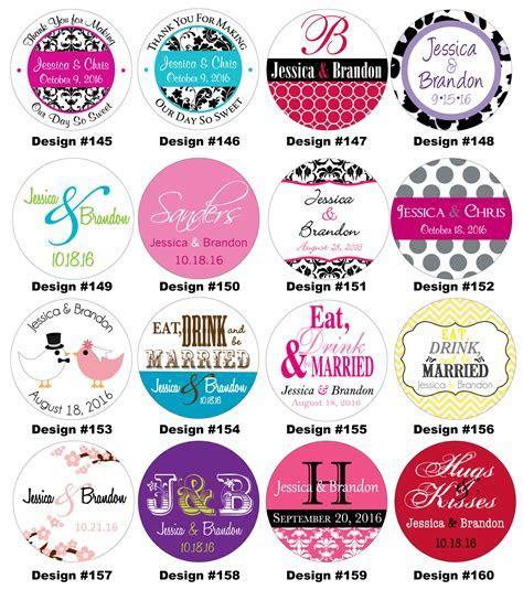 100   2 inch Custom Personalized Glossy Wedding Stickers