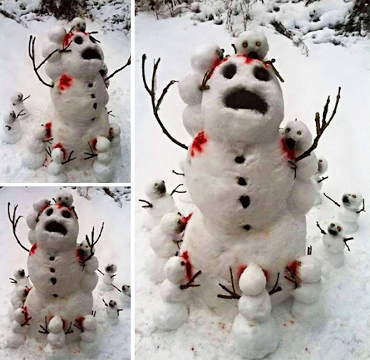 Image: 10+ Hilariously Creative Snowmen That Would Make Calvin And Hobbes ...