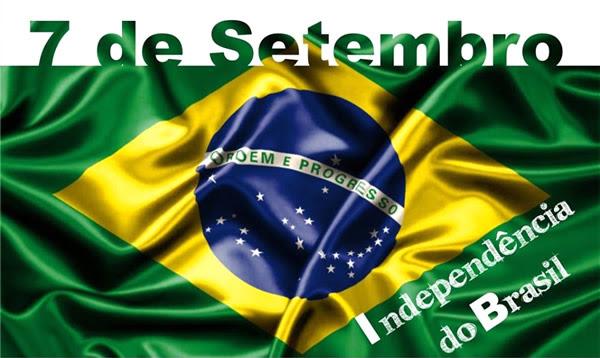 7 de Setembro Independência do Brasil.