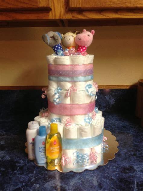 Gender reveal diaper cake   Gift Ideas   Pinterest   Cakes