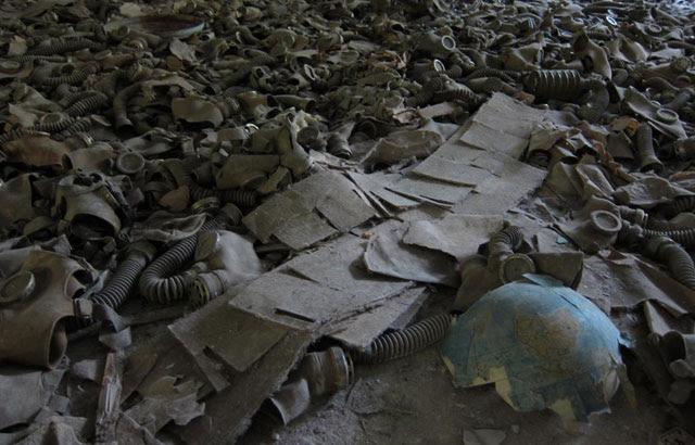 Máscaras anti-gas en Chernobil. |Fotografía de Quico Alsedo para el dIario EL MUNDO