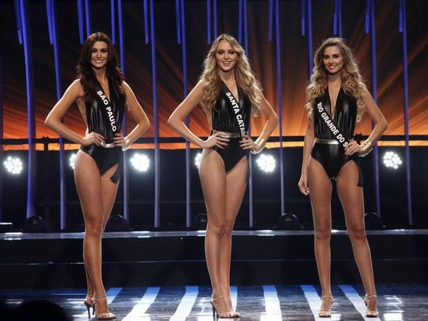 As três finalistas do Miss Brasil 2015 (Foto: Celso Tavares/ EGO)