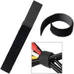 Insten 20*150mm Black Cable Ties Wire Cord Straps Reusable Hook Loop