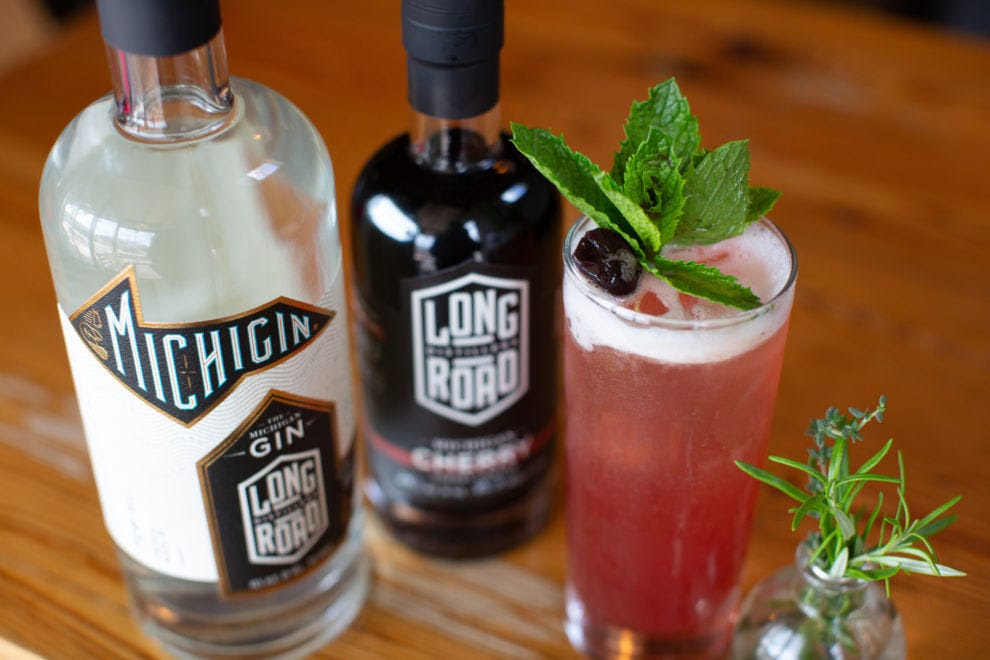Michigan cherry liqueur from Long Road