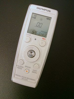 English: Olympus Digital Voice Recorder