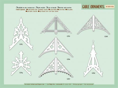 Exterior Architectural roof brackets Components