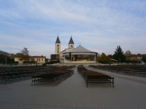During the summer months they get so many visitors they hold mass outdoors; they have seats for 7000 people