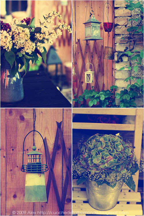 Lanterne e fiori