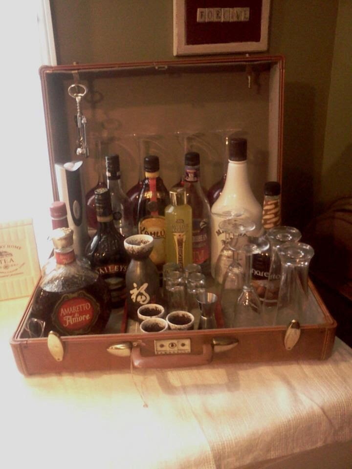 Suitcase Mini Bar