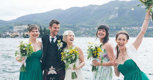 A Fresh Romantic and Natural Wedding on Lake Orta