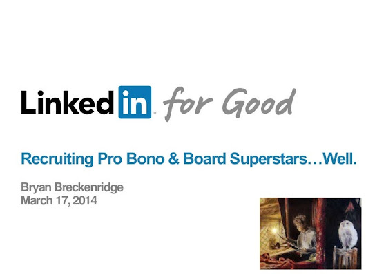 Strategy for Nonprofits Recruiting Pro Bono & Board Stars.