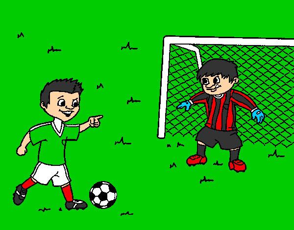 Dibujos De Porteros De Futbol Stunning Futbol Dibujo: Dibujos De Futbol En Color