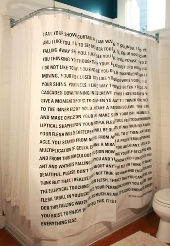 David Eggers shower curtain