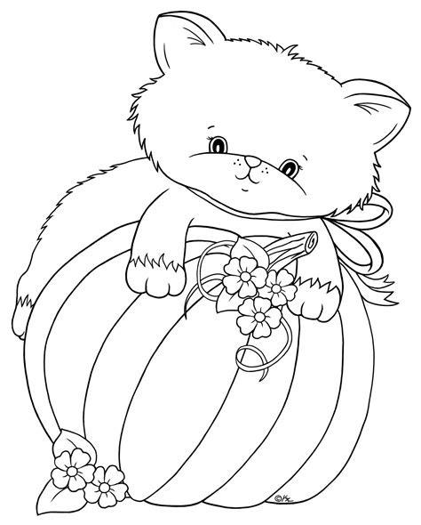pumpkin kitten freebie  bearywishes