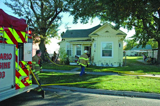 Fast response contains fire to attic