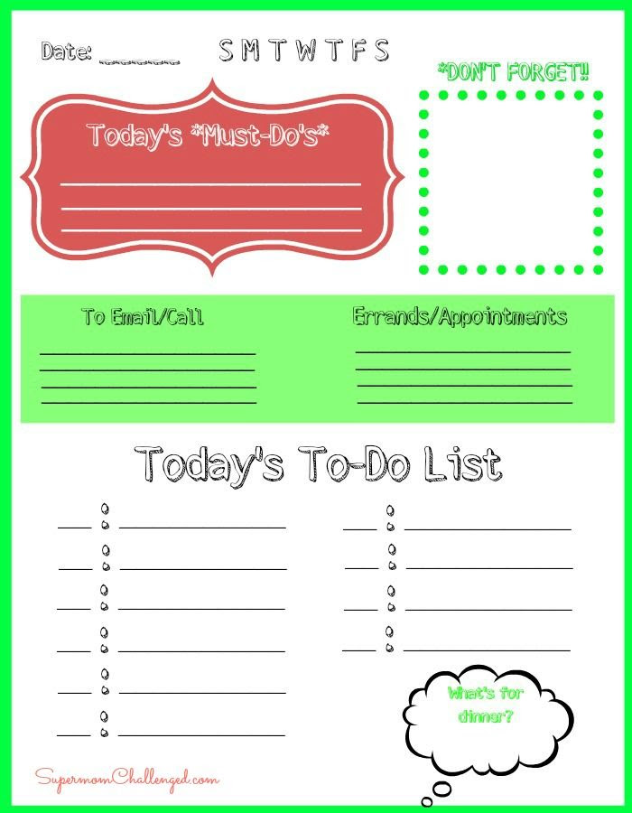 1000+ images about Printables - To Do Lists on Pinterest | Desk ...