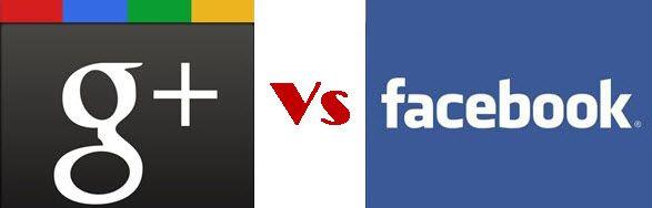 Facebook vs Google+ InfoGraphic
