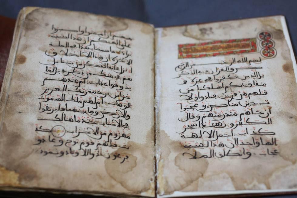 Manuscrito árabe de la Biblioteca Nacional.