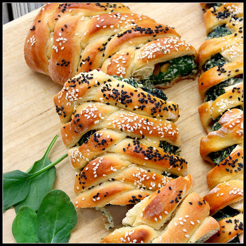 Challah with Spinach and Ricotta