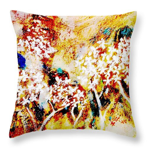 Blossom Morning Throw Pillow